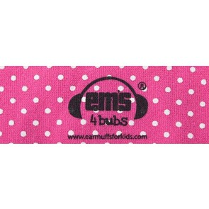 Ems4Bubs Pink/White Polka Dot Band