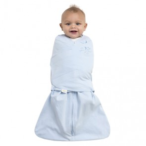 Halo Small Cotton Blue Swaddle